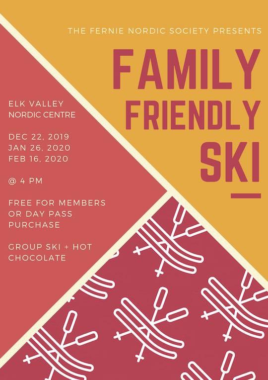 family ski poster