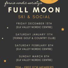 full moon ski poster