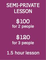 semi-private lesson