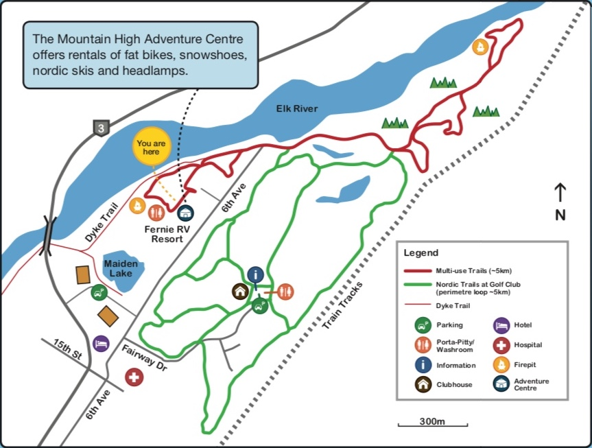 trail map fernie rv resort