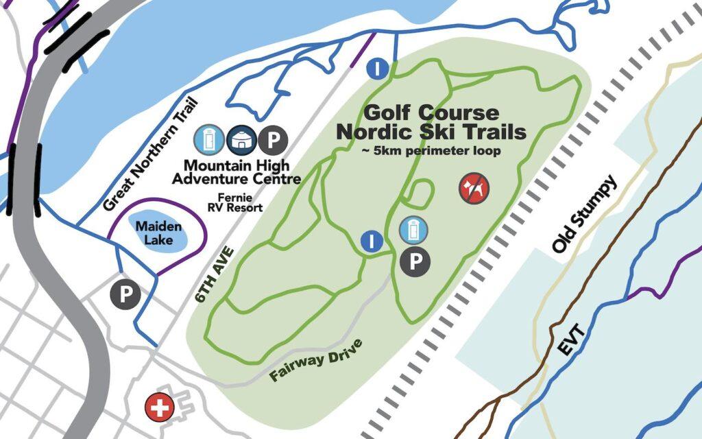 trail map fernie golf 2021